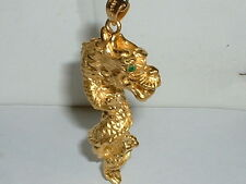24k 999 FINE YELLOW GOLD 3D DRAGON PENDANT CHARM