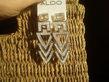 ALDO GOLD TONE & SPARKLY SILVER STATEMENT EARRINGS
