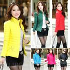 Fashion Women Winter Puffer Down Coat Warm jacket Stand Collar Slim Outerwear