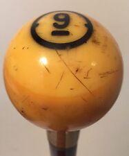 Antique Vintage Nine Ball Presentation Cane Or Walking Stick