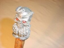 "45 "" SKULL & SNAKE HANDLE WALKING STICK BY KY. CANE ARTIST JIM HALL"