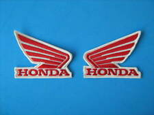 HONDA ALI 2 TOPPE DX SX PATCH RICAMATE TERMOADESIVE PANNA ROSSO  CM.7X6