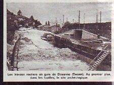 1976  --  SUISSE  TRAVAUX ROUTIERS EN GARE DE DOUANNE  TWANN  T555