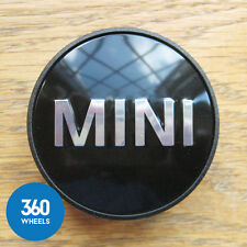 1 x NEW GENUINE ORIGINAL MINI ALLOY WHEEL CENTRE CAP HUB BADGES