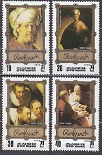 KOREA Pn. 1983 MNH** SC#2264/67 set,  Rembrandt Paintings.