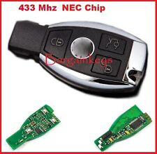 FOR MERCEDES BENZ 2000+ Smart Remote Key Keyless Entry 3 Button 433MHz NEC Chip