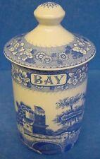SPODE BLUE ROOM BAY BAYLEAF SPICE JAR OR HERB POT TOWER PATTERN (401)