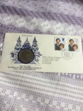 1981 Royal Wedding - FDC FIRST DAY COVER +  CROWN COIN UNCIRCULATED FREE UK P&P