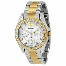Fossil Women ES3204 Riley Gold TwoTone Stainless Steel Watch FREE SHIPPING