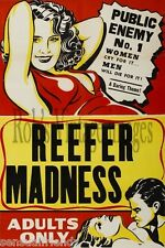 Reefer Madness  Movie Poster 1930s  Motion Picture Perils of Marijauna Usage