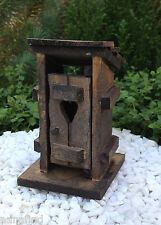 Miniature Dollhouse FAIRY GARDEN Furniture ~ Mini Wood Outhouse ~ NEW