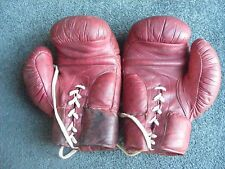 Vintage Tru Play 14 oz Official Boxing Training Gloves  Genuine Pakistan Leather