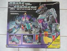 Transformers G1 TRYPTICON 100% Complete 100% Original Works w/ Box