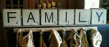 Large Scrabble Tiles For Wall Art Wooden Sign Primitive