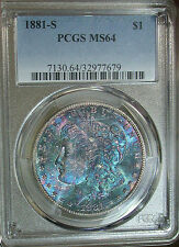 1881 s PCGS MS64 Finest Appearance Colorful Toned Morgan I have ever owned...
