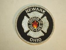 Newark Ohio Division of Fire EMS Round Shoulder Iron On Patch