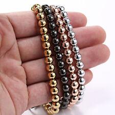 Men's Fashion 18K Gold Plated Full Copper Ball Beaded Bracelet For Gifts