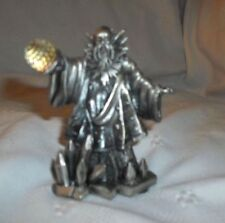 "GORHAM MAGIC CRYSTAL CHESS SET BY TUDOR Pewter 3,25"" Wizard Mystical Figure"