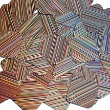Peach Pink Sequins City Lights Square Diamond 1.5 inch ReflectCouture Paillettes
