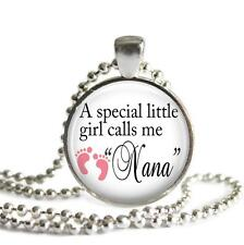 A Little Girl Calls Me Nana Pendant Charm Keychain Family Grandmother Love Gifts