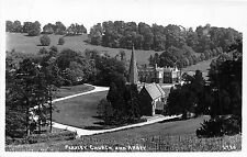 POSTCARD   GLOUCESTERSHIRE    FLAXLEY  Church  and  Abbey   RP