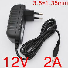 AC Converter Adapter DC 12V 2A Power Supply Charger EU plug 3.5 x 1.35mm 2000mA