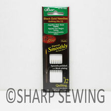 CLOVER BLACK GOLD QUILTING NEEDLES 6 NEEDLES PER PACKAGE  SIZE 12 #CL4982