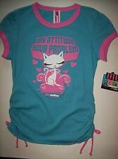Pink Petshop Shirt by Bobby Jack Girls Large 12-14 MY ATTITUDE YOUR PROBLEM NWT