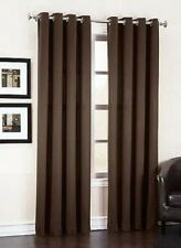 "2 PANELS BROWN LINED THERMAL BLACKOUT GROMMET WINDOW CURTAIN 55"" WIDE X PC  #60"
