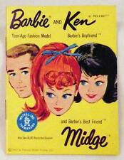 Vintage Barbie Ken Midge Brochure Yellow Clothes Accessories Mattel 1962 Paper