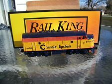 MTH Rail King Chessie F3 A Powered Diesel Runs Great! 30-2118-1 with Sound