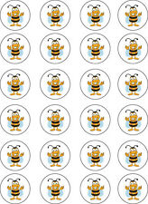 Bumblebee Bee, Summer Edible Cupcake Wafer Paper Toppers x 24