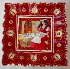 "VILLEROY & BOCH SNOW WHITE SETTING THE TABLE TOYS FANTASY SQUARE 9"" PLATE NEW"