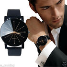 Men's Date Leather Stainless Steel Military Sport Quartz Star Wrist Watch reloj
