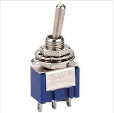 10PCS Toggle Switch 3-Pin SPDT ON-ON  6A 125VAC