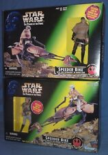 Star Wars Endor Luke Skywalker & Princess Leia w Speeder Bikes Kenner New Sealed