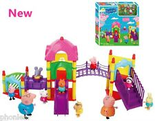 NEW Peppa Pig Family & Friends Big Sliding Amusement Park Playground Figure Toys