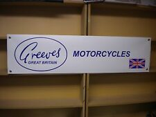 Greeves Motorcycle banner, Anglian, Challenger, Griffon etc