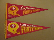 NFL Forty Niners Lot of 2 1 Bar & 2 Bar Logo Pennants