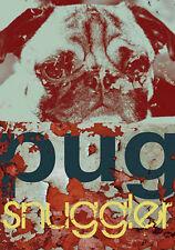 PUG SNUGGLER CARLIN MOPS HUND DOG FINE DOG ART PRINT