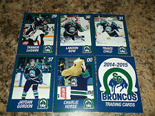 2014-15 SWIFT CURRENT BRONCOS JAYDON GORDON WHL PLAYER TRADING CARDS
