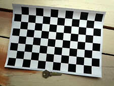 "Accidentada carrera bandera Auto Adhesivo Hoja Checkered cuadros A4 12 ""x 8"" exterior de vinilo"