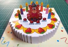 3D Pop up Birthday GREETING CARD Handmade Folding 3_D Gift Cake4
