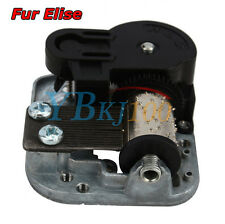 New Wind Up Musical Movements Part With Screws Winder Fur Elise Music Box DIY