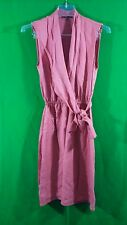 Elie Tahari coral 100% lyocell sleeveless above knee side wrap dress size 2