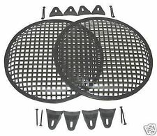 18 INCH SUBWOOFER SPEAKER COVERS WAFFLE MESH GRILL GRILLE PROTECT PAIR 2 W CLIPs