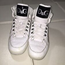 Dolce & Gabbana Mens Shoes Patent Leather White D&G Designer sz 10 jordan