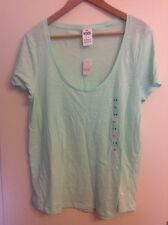 Rose VICTORIA'S SECRET mint large t-shirt bnwt avec VICTORIA'S SECRET shop bag