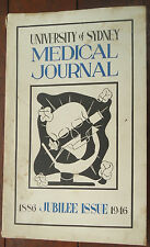 University of Sydney Medical Journal, 1886-1946 Jubilee Issue, Softcover