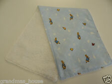 Peter Rabbit - Blue Burp Cloth - 1 Only Toweling Back GREAT GIFT IDEA!!